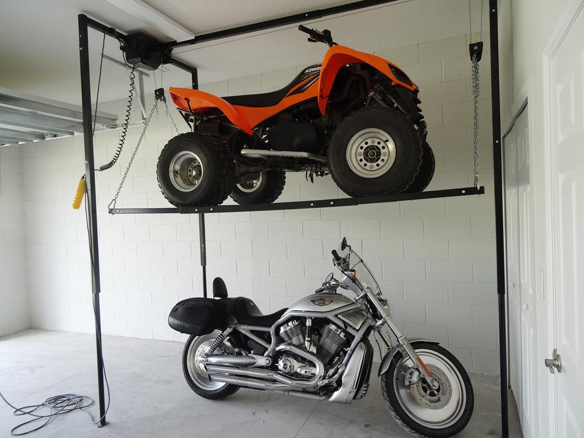BL1100 Garage Storage Lift & Motorcycle Storage Lift 2000 lb Store your Dirt Bike Jet Ski ...